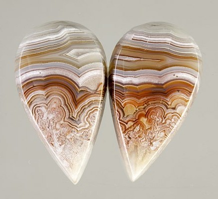 Mexican Lace Agate Pair