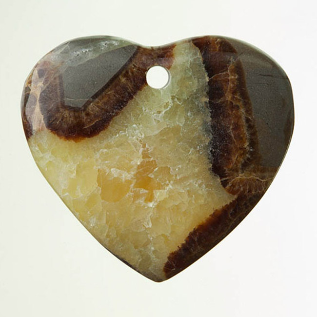 Septarian Drilled Heart Pendant