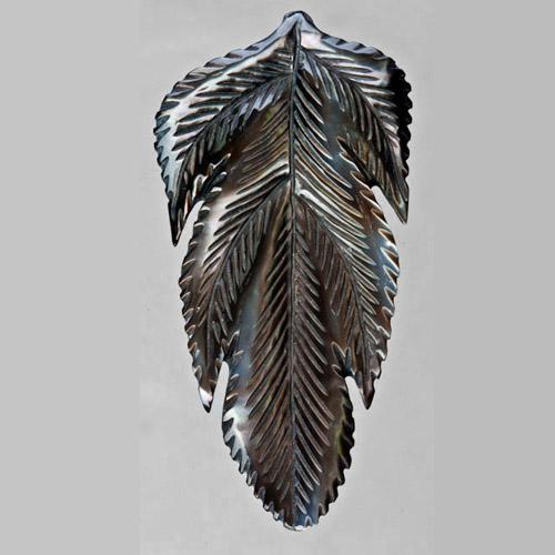 Bali-carved Mabe Pearl Leaf