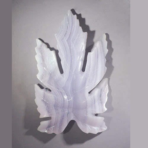 Bali-carved Chalcedony Leaf