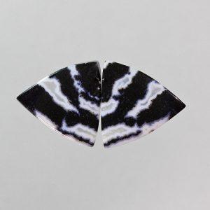 Zebra Agate Earring Pair