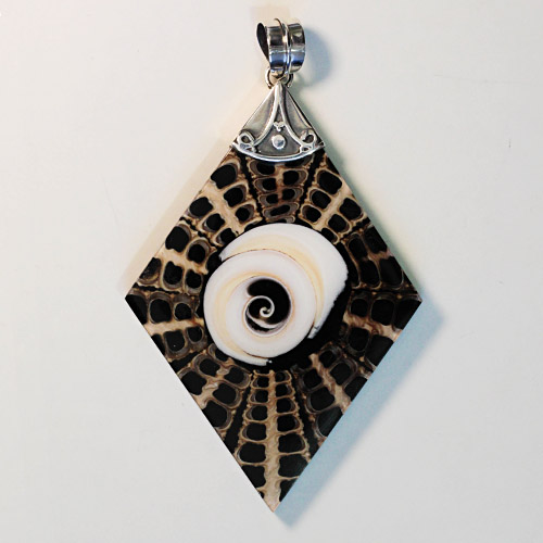 Nautilus Shell-Sterling Silver Pendant