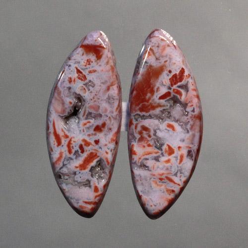 Confetti Agate Earring Pair