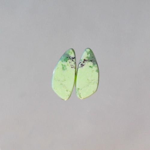 Citron Magnesite (Lemon Chrysoprase) Earring Pair