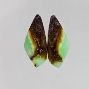Chrysoprase in Matrix Pair