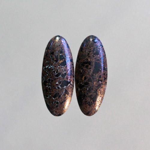 Copper-Black Fire Brick Pair
