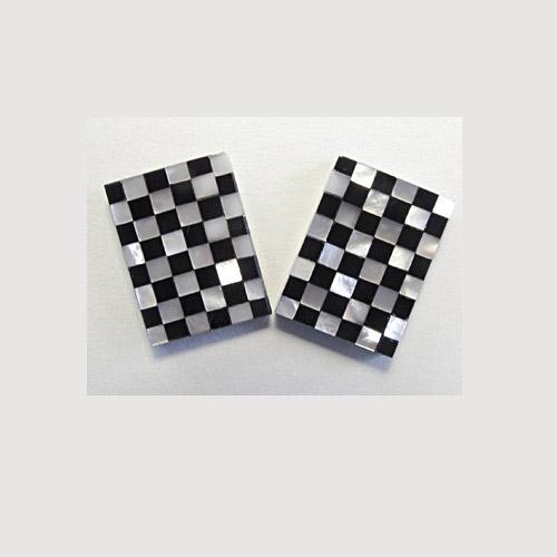 MOP-Black Onyx Checkerboard Pair