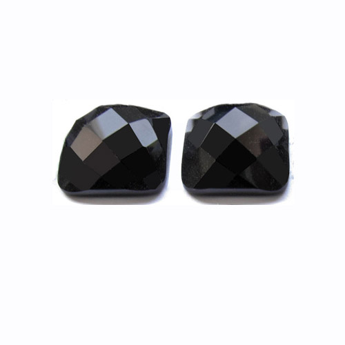 Faceted Black Onyx Pair