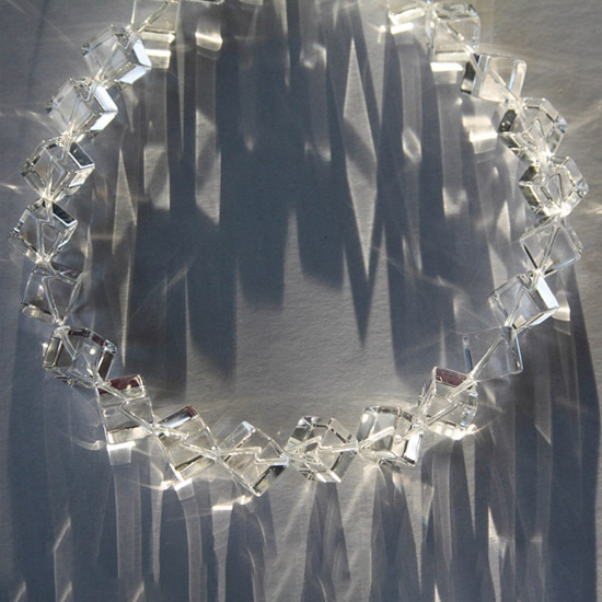 Rock Crystal Angled Cubes--10mm