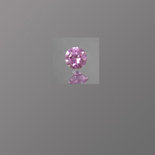 CZ Pink Round