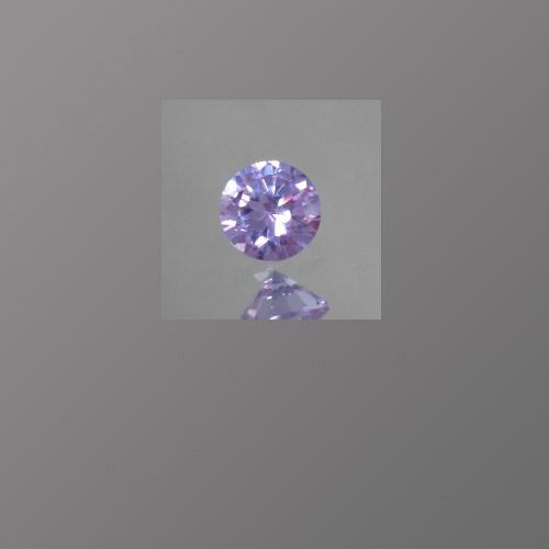 CZ Lavender Round