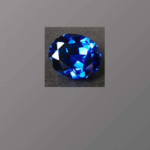 Lab-Created Sapphire Royal Blue Oval