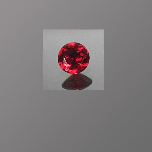 Lab Corundum Ruby Red Round