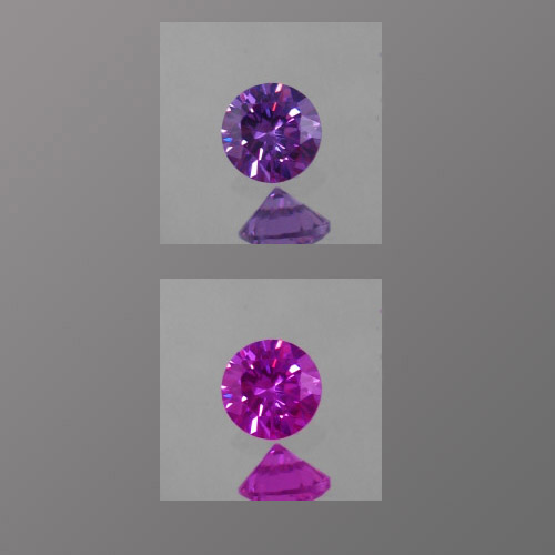 Lab Corundum Color-Change Alexandrite Round