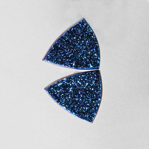 Ocean Blue Druzy Pair