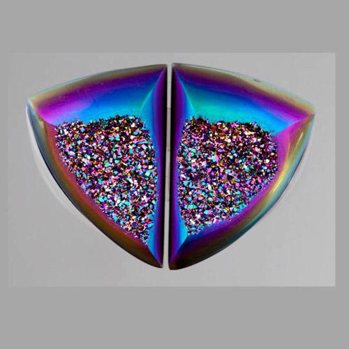 Carib Titanium Druzy Pair