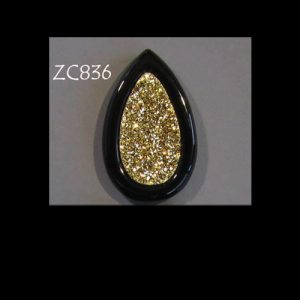 Top-Drilled 18kt Gold Druzy Pendant