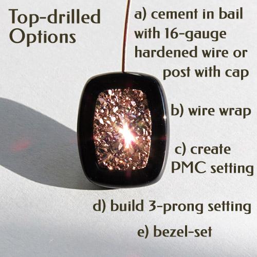 Top-Drilled Platinum Druzy Pendant