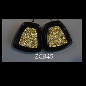 Top-Drilled 18kt Gold Druzy Pair