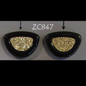Top-Drilled 18kt Gold Druzy Pair