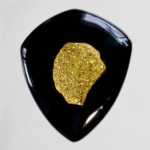 18kt Gold Druzy on Black Onyx