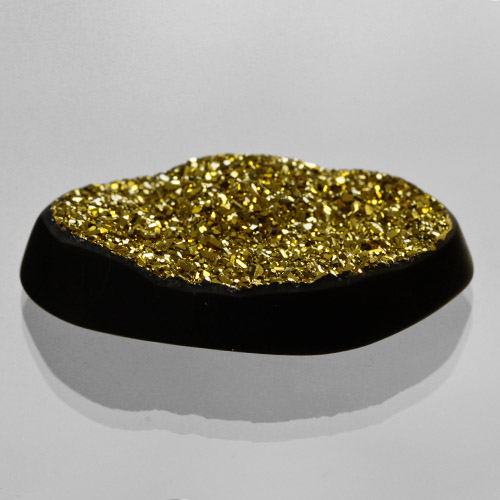 18kt Gold Druzy on Black Onyx
