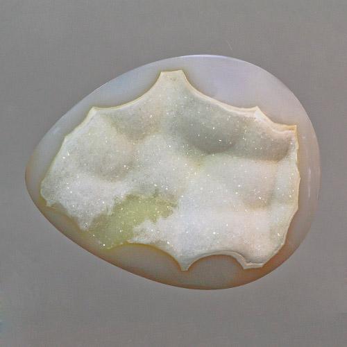 White Druzy Agate